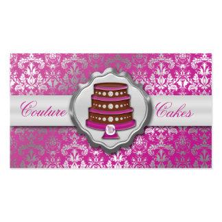 Panadería glamorosa de la torta del damasco de las tarjetas de visita