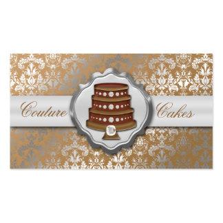 Panadería glamorosa de la torta del damasco de las plantillas de tarjeta de negocio