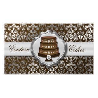 Panadería glamorosa del damasco de las costuras ma tarjeta de visita