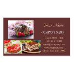 Panadería moderna del café del pan del postre tarjetas de negocios