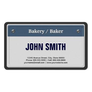 Panadería panadero - placa fresca del coche plantillas de tarjetas personales