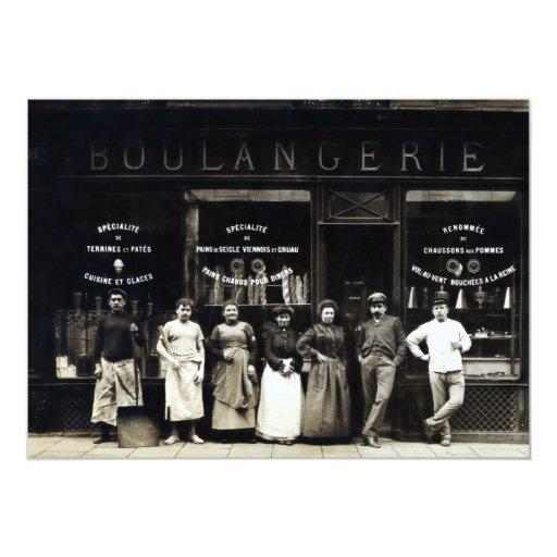 Panadería parisiense 1900 invitación 12,7 x 17,8 cm
