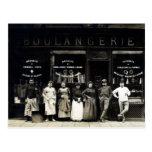 Panadería parisiense 1900 postal