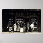 Panadería parisiense 1900 posters