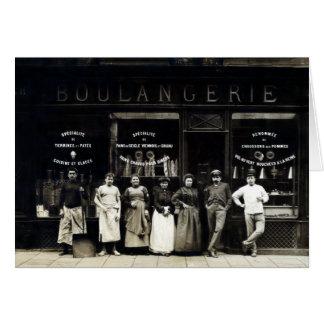 Panadería parisiense 1900 tarjeta de felicitación
