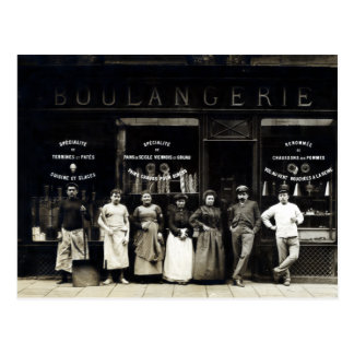 Panadería parisiense 1900 tarjeta postal