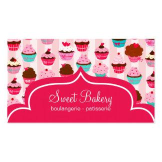 Panadería rosada moderna de las magdalenas tarjetas de negocios