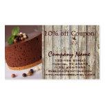 panadería rústica de la cupón del país de la torta tarjeta de visita