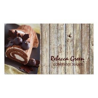 panadería rústica del país de la torta de tarjetas de visita