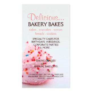 Panadería también |bluepink de la tarjeta de visit tarjetas de visita