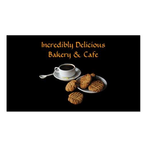 Panadería y café tarjetas de visita