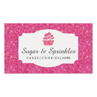 Panadería y tarjetas de visita rosadas de