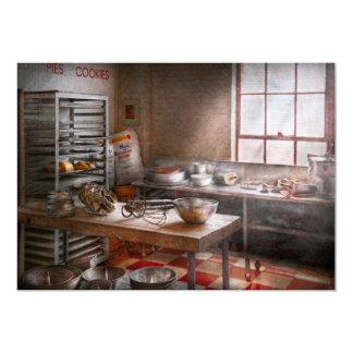 """Panadero - cocina - la panadería comercial invitación 5"""" x 7"""""""