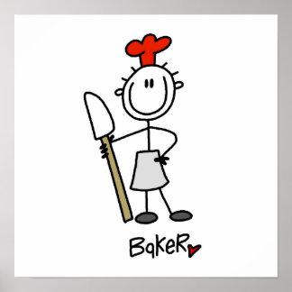 Panadero con el raspador impresiones