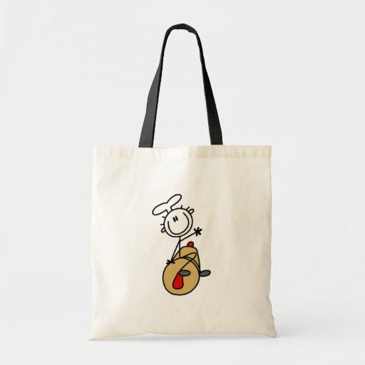 Panadero con el rodillo bolsas de mano