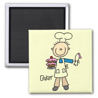 Panadero con la torta iman