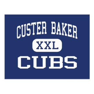Panadero Cubs Franklin medio Indiana de Custer Tarjeta Postal