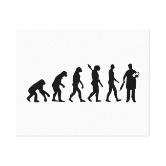 Panadero de la evolución impresiones de lienzo