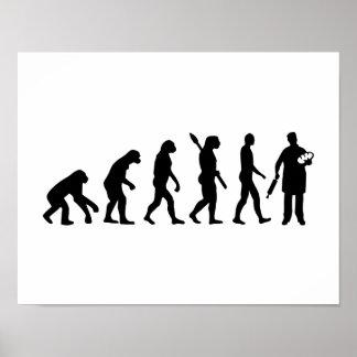 Panadero de la evolución póster