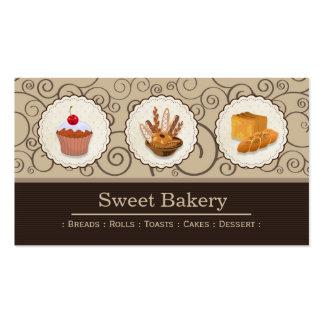 Panadero de la panadería - los panes Rolls tuestan Tarjetas De Visita