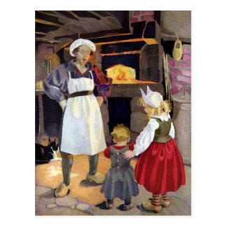 Panadero de la Pat-UNO-Torta y poesía infantil de  Tarjeta Postal
