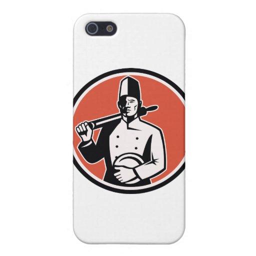 Panadero del cocinero del cocinero con el rodillo  iPhone 5 funda