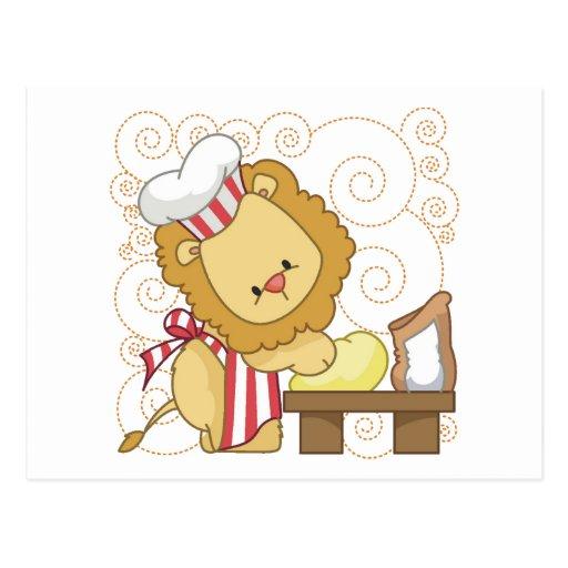 Panadero del león tarjetas postales