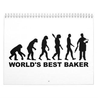 Panadero del mundo de la evolución el mejor calendario