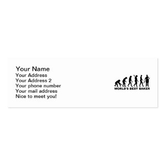 Panadero del mundo de la evolución el mejor tarjeta de visita