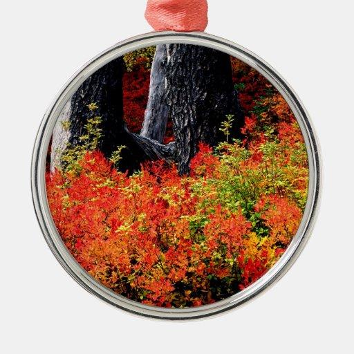 Panadero del soporte del otoño adorno navideño redondo de metal