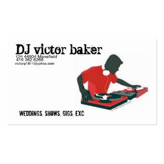 Panadero del vencedor de DJ Tarjetas De Visita