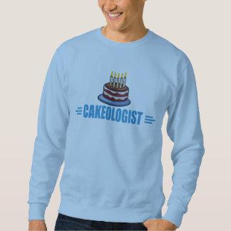 Panadero divertido de la torta, decorador sudadera con capucha