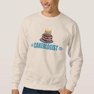 Panadero divertido de la torta, decorador sudaderas encapuchadas