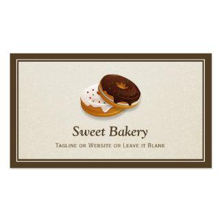 Panadero dulce de los anillos de espuma de la tarjetas de visita