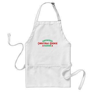 Panadero oficial de la galleta del navidad delantal