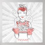 panadero retro del ama de casa impresiones