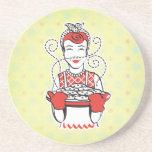 panadero retro del ama de casa posavasos personalizados