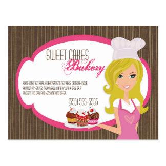 Panadero rubio de la tarjeta de publicidad en las  postal