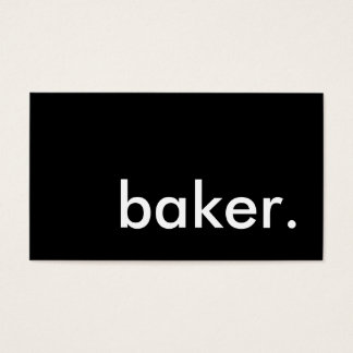 panadero tarjetas de visita