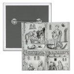 Panaderos de York, A.D, 1595-96 Pin Cuadrado