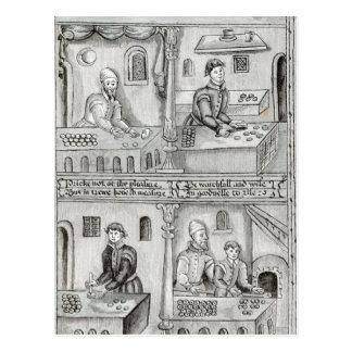 Panaderos de York A.D, 1595-96 Tarjetas Postales
