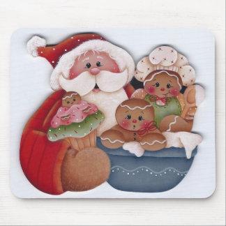 Panaderos del cocinero de Santa y del bebé del pan Tapetes De Ratón