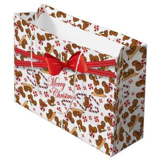 Panaderos dulces de los hombres de pan de jengibre bolsa de regalo grande