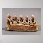 Panaderos que amasan la pasta en Thebes Posters