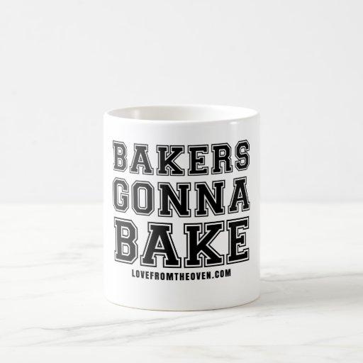 Panaderos que van a cocer la taza