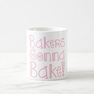Panaderos que van a cocer la taza de café