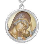 Panagia Kardiotissa Silver Plated Round Necklace