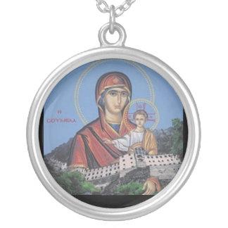 Panagia Soumela Painting Necklace