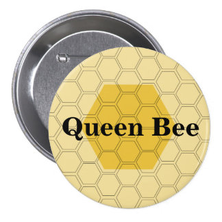 Panal adolescente de la abeja reina modificado pin redondo de 3 pulgadas
