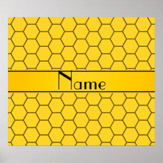 Panal amarillo conocido personalizado posters